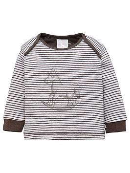 the-little-tailor-unisex-baby-super-soft-jersey-striped-rocking-horse-top-charcoalgrey-marl