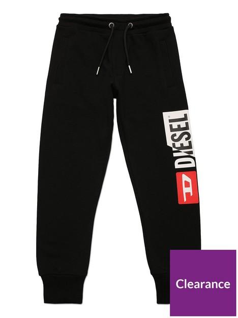 diesel-boys-cut-logo-jog-pants-black
