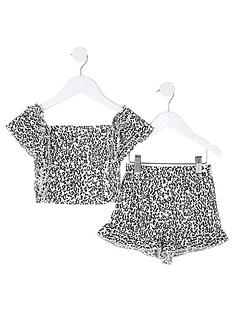 river-island-mini-mini-girls-leopard-print-2-piece-set-brown