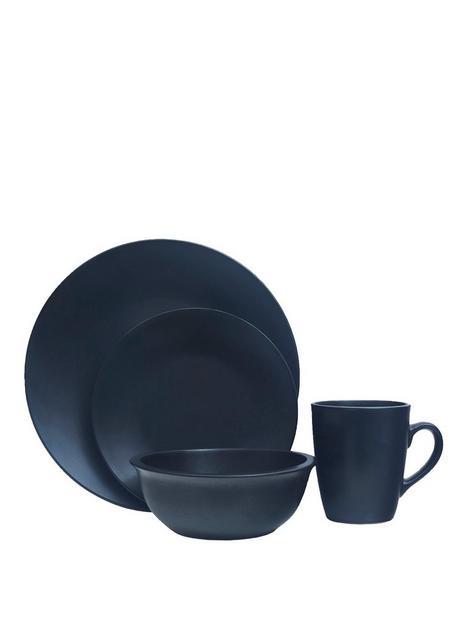 premier-housewares-16-piece-black-glazed-stoneware-dinner-set