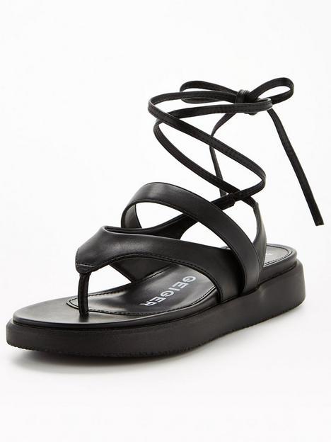 kg-ralley-flat-sandal-black
