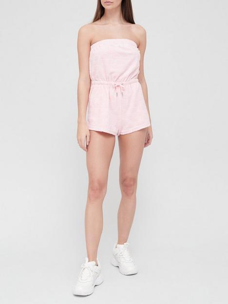 juicy-couture-jacquard-monogram-terry-towel-bandeau-romper-playsuit-pink