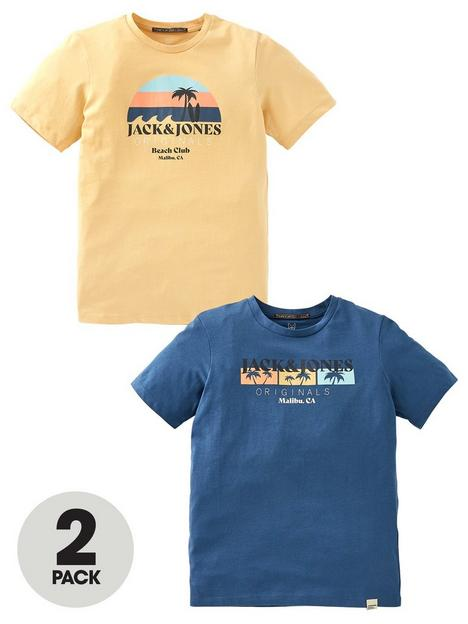 jack-jones-junior-boys-2-pack-palm-graphic-t-shirts-blueyellow