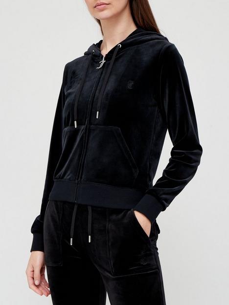 juicy-couture-zip-through-velour-hoodie-black