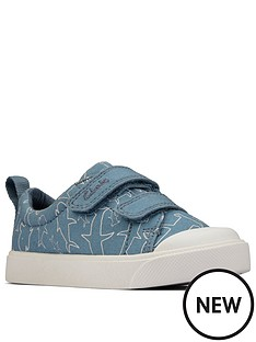 clarks-city-bright-toddler-shark-print-canvas-plimsoll-blue