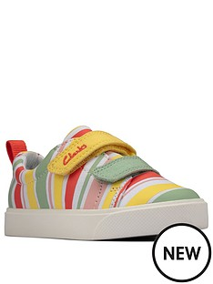 clarks-city-bright-toddler-stripe-canvas-plimsoll-multi