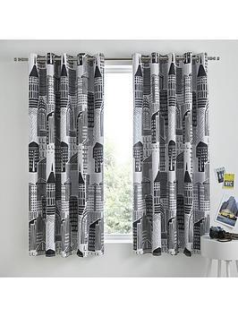 catherine-lansfield-citylife-eyelet-curtains