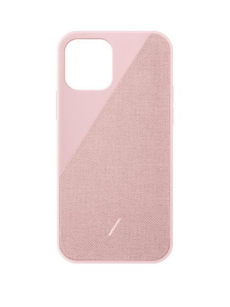 native-union-clic-canvas-hard-wearing-fabric-case-for-iphone-12-pro-max-rose