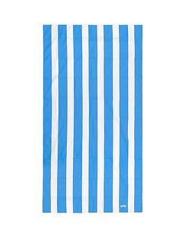 yello-yel-stripe-quick-drying-towel-blue