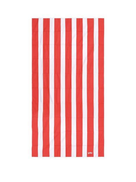 yello-yel-stripe-quick-drying-towel-red