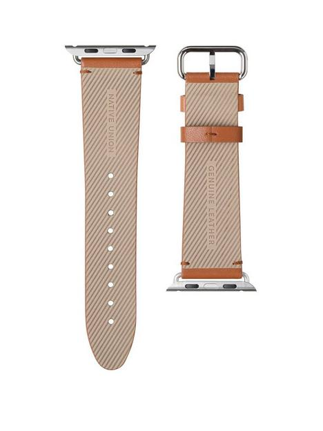 native-union-genuine-leather-classic-strap-for-apple-watch-44mm-tan