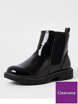 river-island-girls-patent-chunky-chelsea-boot--nbspblack