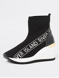 river-island-sock-knit-ankle-wedge-shoe-black