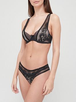 hunkemoller-mailka-lace-brazilian-brief-black