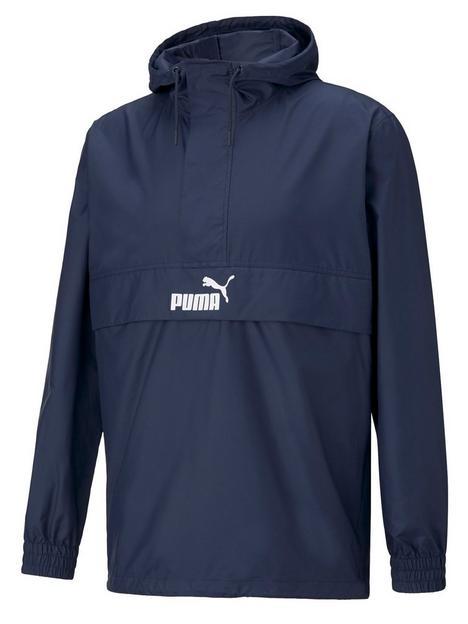 puma-half-zip-windbreaker-navy