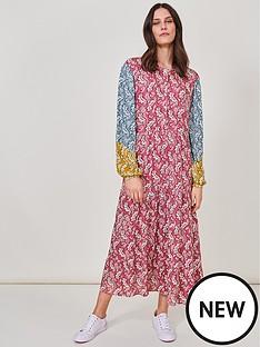 white-stuff-patterned-rosewood-long-sleeve-dress-pink