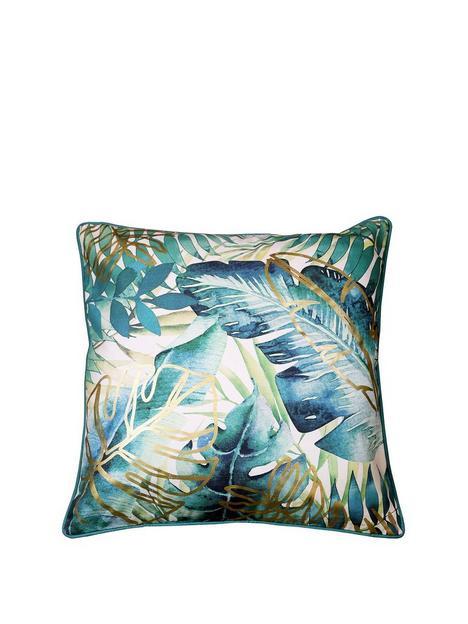 arthouse-tropical-leaf-cushion