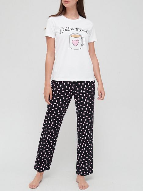v-by-very-coffeenbspcotton-pyjama-set-print