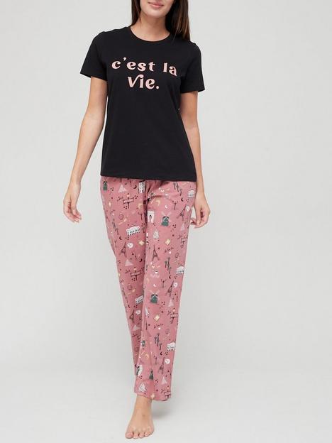 v-by-very-cest-la-vie-wide-leg-pyjamas-conversational-print