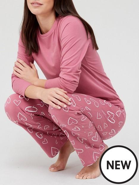 v-by-very-long-sleeve-heartnbsppyjamasnbsp--pink-print