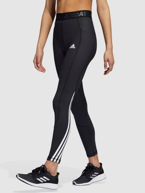 adidas-tech-fit-heatready-3-stripe-leggings-black