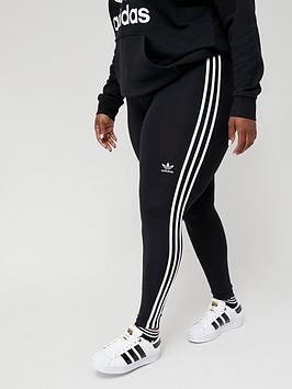 adidas-originals-3-stripes-leggings-plus-size-blackwhite