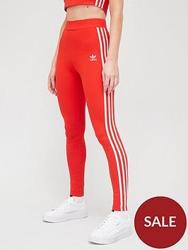adidas-originals-3-stripes-leggings-red