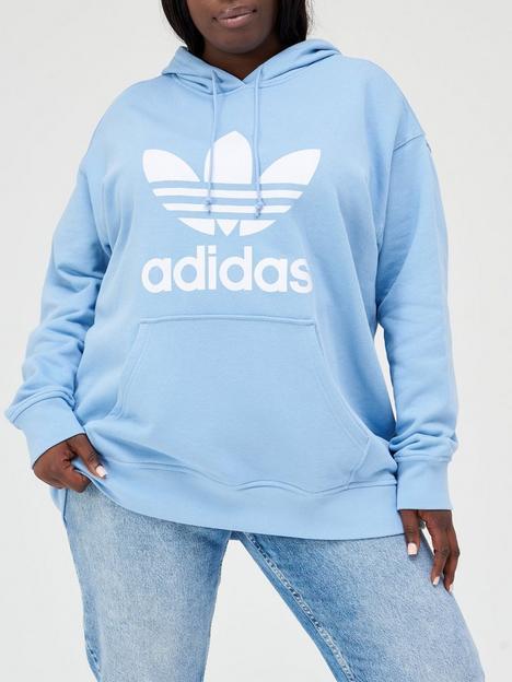 adidas-originals-plus-sizenbsptrefoil-hoodie-light-blue