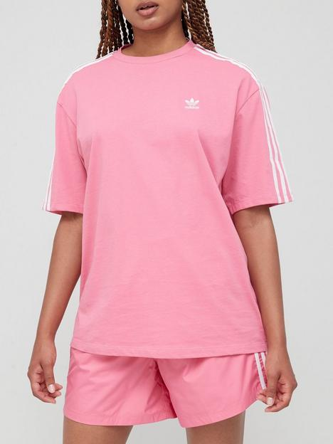 adidas-originals-3-stripes-oversized-tee-pink