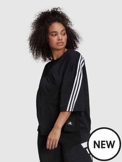 adidas-adidas-future-icons-3-stripes-tee-plus-size