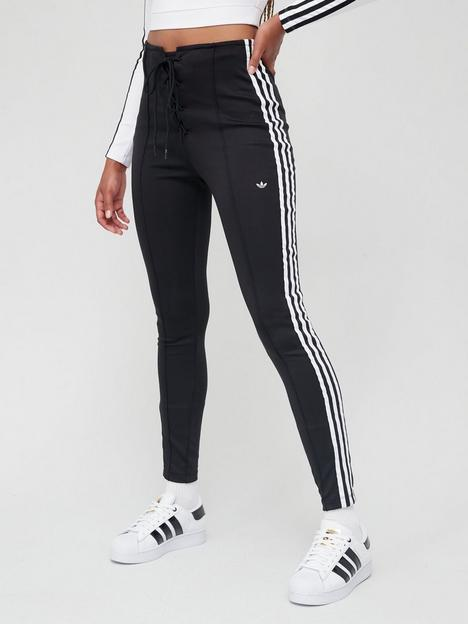 adidas-originals-fitted-high-waist-laced-pants-black