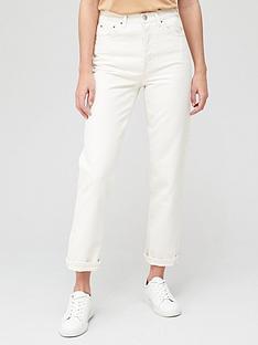 v-by-very-shortnbsppremium-high-waist-straight-jean-white