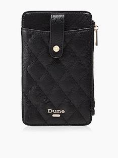 dune-london-kimmyy-phone-lanyard-purse--nbspblack