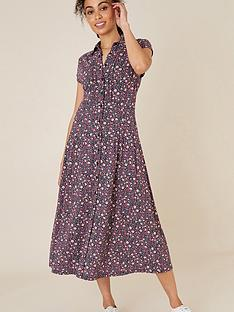 monsoon-floral-print-shirt-dress-pink