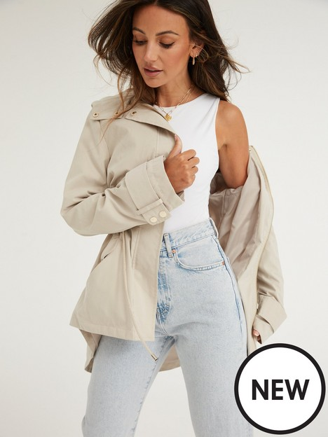 michelle-keegan-casual-drawcord-hooded-coat-camel