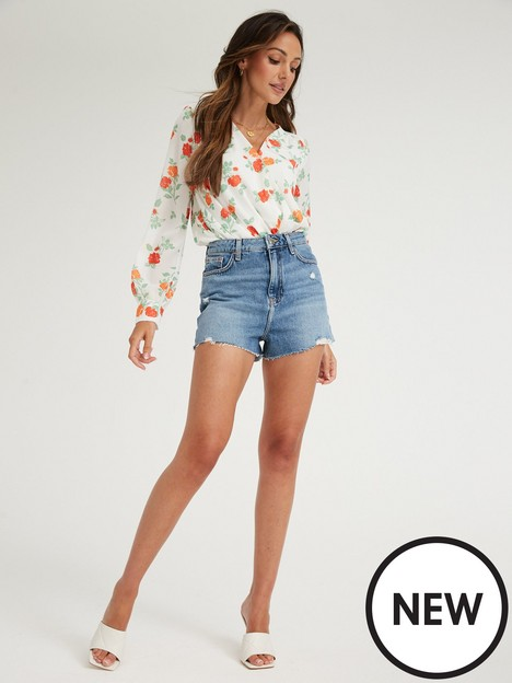 michelle-keegan-wrap-woven-bodysuit-floral
