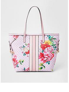 river-island-floral-monogram-shopper-pink