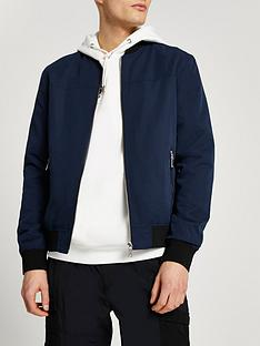 river-island-core-bomber-navy