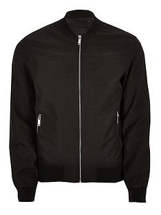 river-island-big-and-tall-bomber-jacket-black