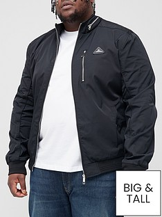 river-island-big-amp-tallnbspnylon-racer-chest-pocket-jacket-black