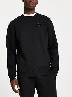 river-island-crew-neck-sweat-top-black