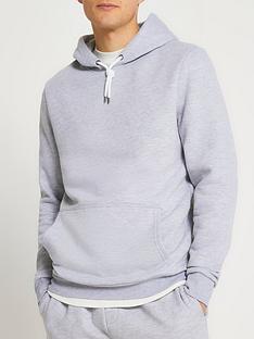 river-island-basic-hoodie-grey
