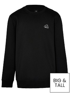 river-island-big-amp-tall-ri-script-crew-sweat-black