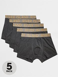 river-island-gold-waistband-5-pack-trunk-grey-marl