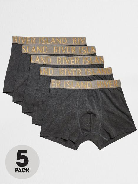 river-island-waistband-trunks-5-pack-greynbsp