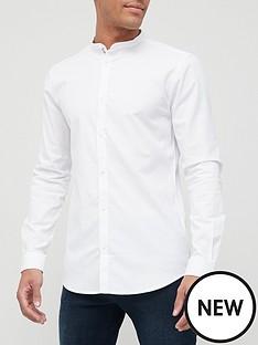 river-island-maison-riviera-grandad-nbsplong-sleeve-slim-fit-shirt-white