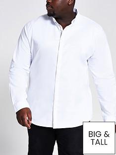 river-island-big-and-tallnbsplong-sleeve-oxford-shirt-white