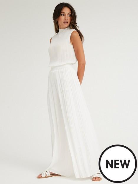 michelle-keegan-high-neck-plisse-shell-top-white