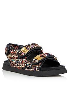 dune-london-lockstockk-flat-sandal-multi
