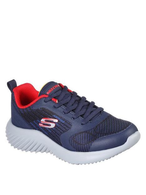 skechers-bounder-verkona-lace-trainer-navy